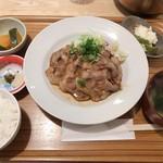 99647098 - 生姜焼き定食 972円