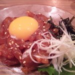 9965194 - マグロのユッケ☆ 間違いない美味さ。