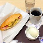 コーヒーサロンタカセ - ベーコンエッグモーニング420円