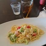 ラ・ステラポラーレ - 料理写真:ズワイガニのクリームソース1,500円と、セット250円