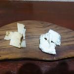 オステリア ルーチェ - オーガニックチーズ2種盛り合わせ
