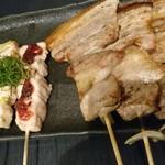備長焼 鳥助 - 豚バラ、各種ささみ
