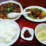 Kourien - 「麻婆豆腐とユーリンチー定食」960円