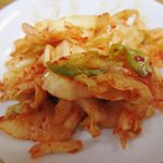 大穂 - 食べ放題のキムチ