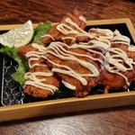 町の焼き鳥レストラン トリ太鼓 - トリ太鼓ザンギ トッピング明太マヨ