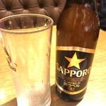 ブルス・グリル - 瓶ビール小瓶490円+税