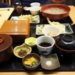 旬味千菜 蓮こん - 天ざる御膳(蓮根麺つき)