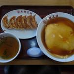 大阪王将 - 天津飯餃子セット
