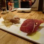 イソガミ ギョウザバル トマコ - 葱塩鶏と生ハム