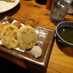 ぶぶか - 鶏とレンコンの天ぷら