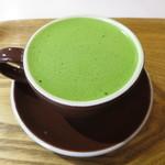 Café Buono - 抹茶ラテ@500円(税込み)