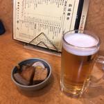 やきとり平八 - 料理写真:まずはビールとお通しで