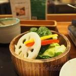 99679113 - 野菜おかわり1回目