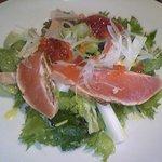 9968083 - 鮭と筋子のサラダ