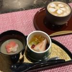 懐石 櫻 - デザートとカフェラテ