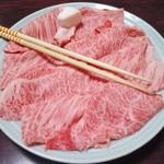 盃花羅亭 - すき焼きのお肉