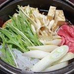 盃花羅亭 - すき焼き