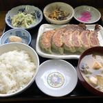 ラーセン餃子 - 餃子定食(焼餃子6個)