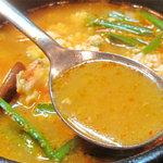 ソウル亭 - 海鮮(あさり)の風味が効いていて美味しいです。油は良質のごま油だけを使用してるので、コクはあるけどスッキリ。
