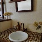 カフェセジョリ - トイレ前の洗面台