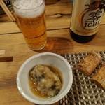 酒菜楽 - ノンアルコールビール、ナマコ酢、黒豆