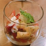 MEGRO Dining - タコとフレッシュトマトのジェノベーゼ  500円
