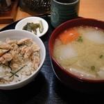 美噌元 - 豚汁と鮭ご飯セット