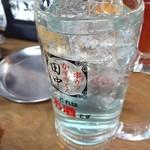 串カツ田中 - 田中の素サワー?え?青い汁?