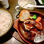 Gyutansumiyakirikyuu - 牛たんシチュー定食1,566円+tax