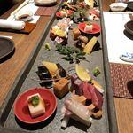 喜水亭 和樂 - 前菜と刺身