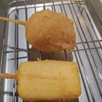麺匠 えい蔵 - チーズ200円と味玉爆弾150円