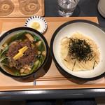 99710264 - 牛肉と九条ねぎのつけ麺 1210円