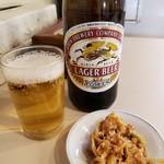 大勝軒 - 瓶ビール(おつまみ付)2018.12.29