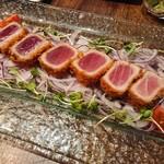 沖縄創作ダイニング 菜美ら - マグロのレアカツ 850円
