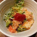 沖縄創作ダイニング 菜美ら - とろ〜りフォンデュチーズのタコライス (取り分け後)