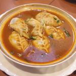 ネパール居酒屋シティマート - 料理写真:スープモモ(700円) モモはベジタブルモモにしてもらいました。