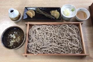そば切り源四郎 - 板そば大盛+きじ汁 ¥1350