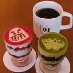 ボタニストカフェ - ティラミス2種、フェアトレードコーヒー
