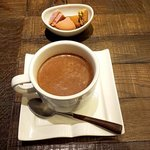 カカオ・マーケット・マリベル - ホットチョコレート・アメリカン(ヘーゼルナッツミルク)