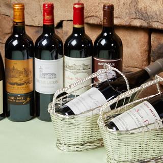 ソムリエが厳選したフランスワインをお食事と一緒にどうぞ