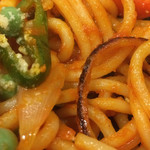 喫茶リッチ - 熱々鉄板で焦げたスパゲティ