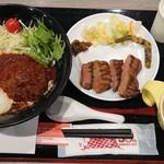 牛たん炭焼 利久 - 牛たんロコモコ丼セット¥1600+税
