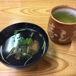 寿し甚 - ランチのあら汁(お吸い物)
