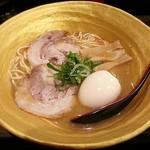 ゆず白湯らーめん 柚子壱郎 - 【ゆず白湯 こってり味玉子ラーメン】¥850