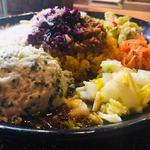 スパイスカレー青藍 - 野菜の惣菜+季節のポテサラ