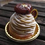 銀座近江屋洋菓子店 - 小ぶりな和栗のモンブラン