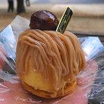 銀座近江屋洋菓子店 - 脱がすと以外に頼りないモンブラン