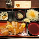 豚カツと和食 のぶたけ - ヒレカツ(120g)サラダ付 1100円