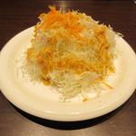 豚カツと和食 のぶたけ - キャベセン(大盛) 200円