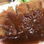 洋食の朝日 - あっさり目のデミグラスソースがたっぷり!(2019.1.8)